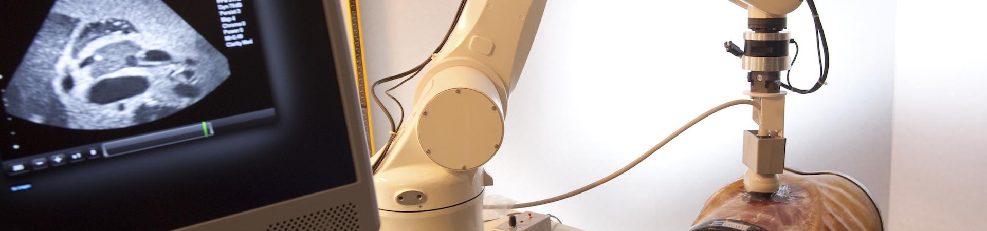 Ultrasound probe guidance by visual-servoing